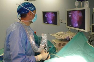 Citoscopia en quirófano. Urólogo Gómez Pascual