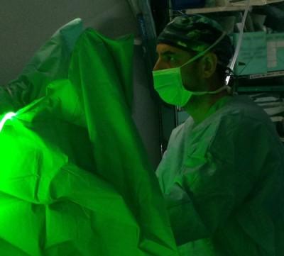 Tratamiento de HBP con láser verde