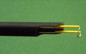 Punta del resector que irá cortando el adenoma de la próstata