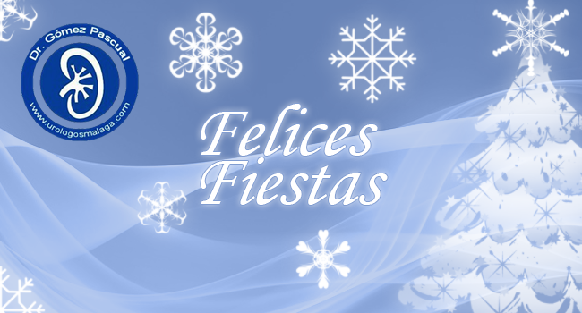 felicitación de Navidad de urólogos Málaga