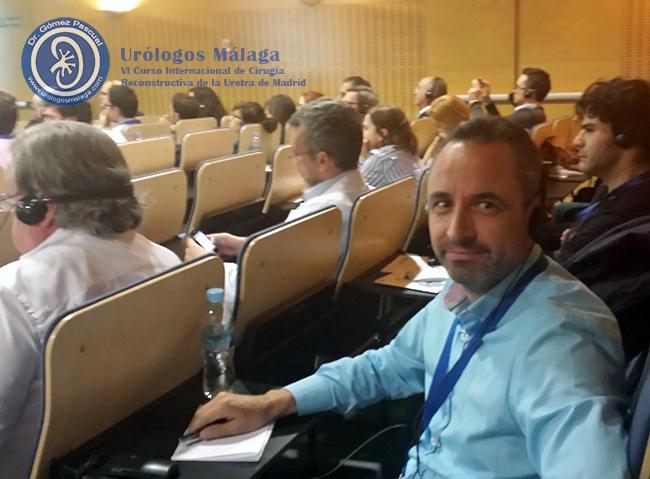 El Doctor Jose Angel Gomez Pascual durante una de las jornadas del VI Curso Internacional de Cirugía Reconstructiva de la Uretra en Madrid