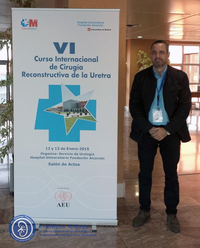 El Doctor Jose Angel Gomez Pascual en el VI Curso Internacional de Cirugía Reconstructiva de la Uretra en Madrid
