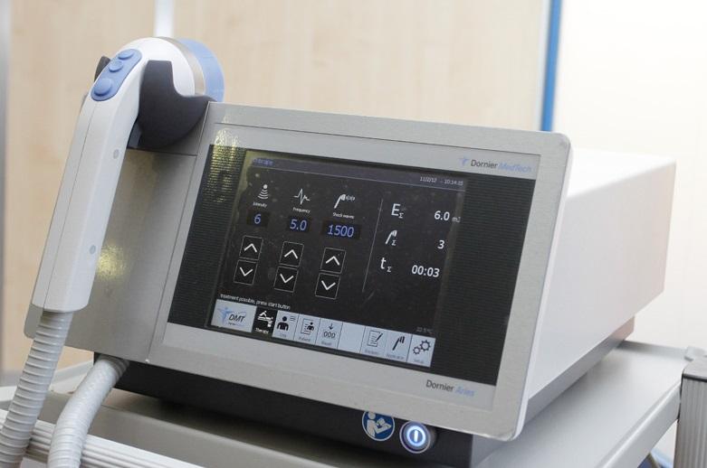 Modelo de Litotricia de baja intensidad Dornier Aries para el tratamiento de la Disfunción eréctil actualmente disponible en Hospital Quirón Málaga