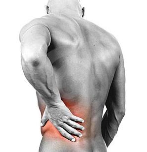 Figura 3.- Típica localización de dolor renal cuando se produce un cólico nefrítico