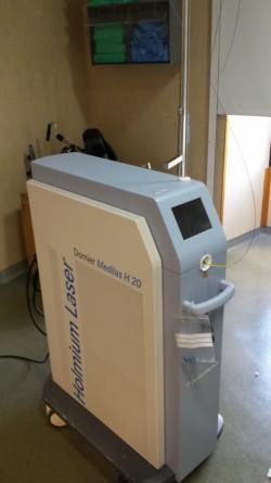 Laser Holmio utilizado para la fragmentación de litiasis o cálculos ureterales
