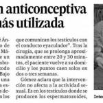 Nuevo artículo del urólogo doctor Gómez Pascual sobre vasectomía publicado en la prensa de Málaga