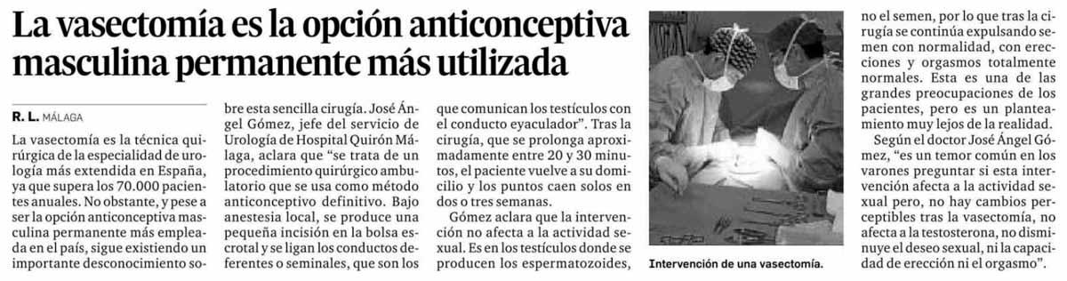 Aparación en prensa Málaga Hoy - Opinión de Málaga